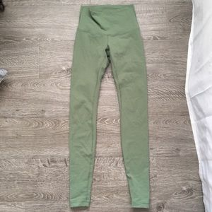Sage Green Wunder Under Lululemon Yoga Pants